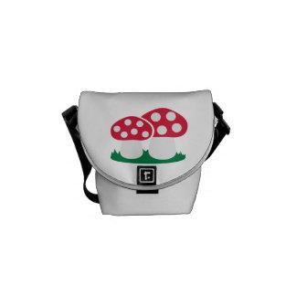 Fly agaric mushroom courier bag