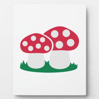 Fly agaric mushroom display plaque