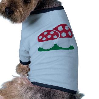 Fly agaric mushroom dog tee