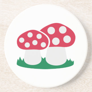 Fly agaric mushroom drink coaster