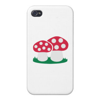 Fly agaric mushroom cover for iPhone 4