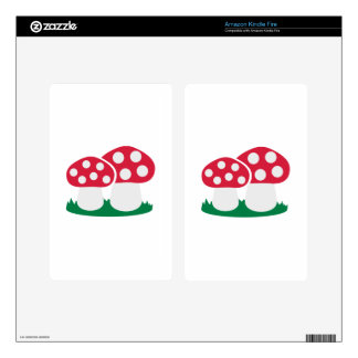 Fly agaric mushroom kindle fire decals