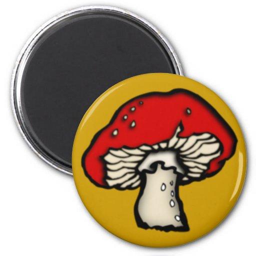 Fly agaric mushroom toadstool mushroom 2 inch round magnet