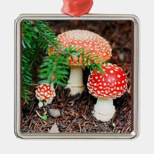 Fly Agaric Mushrooms Ornament