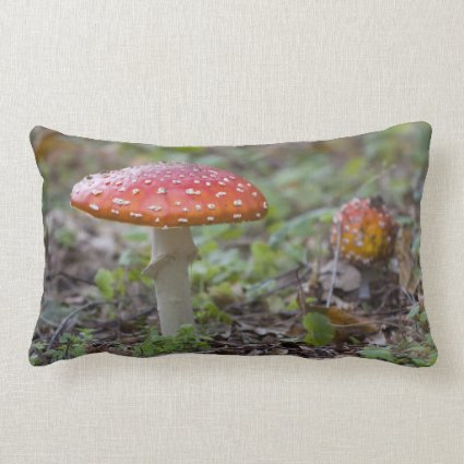 Fly Agaric Toadstool Throw Pillow