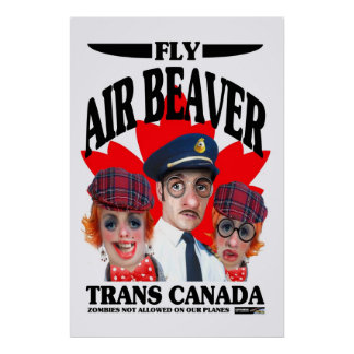 Fly Air Beaver Canada poster