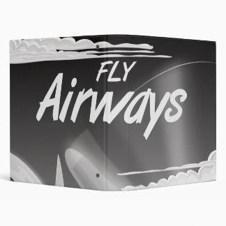 Fly Airways vintage travel poster. Binder
