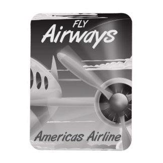 Fly Airways vintage travel poster. Magnet