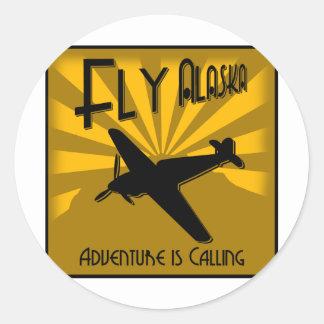 Fly Alaska Classic Round Sticker