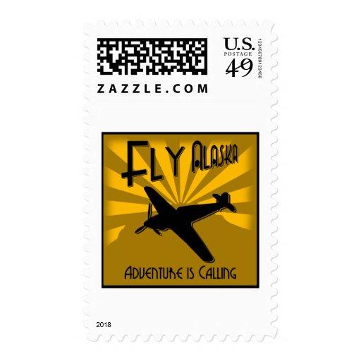 Fly Alaska Postage