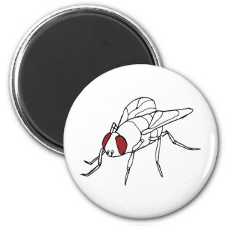 fly animal insect illustration graphic 2 inch round magnet