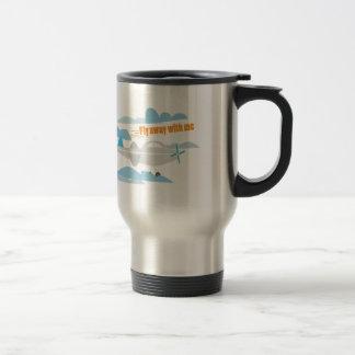 Fly Away 15 Oz Stainless Steel Travel Mug
