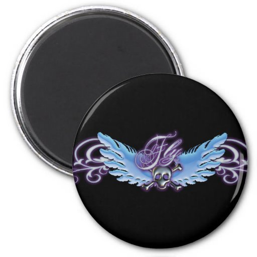 Fly Away 2 Inch Round Magnet