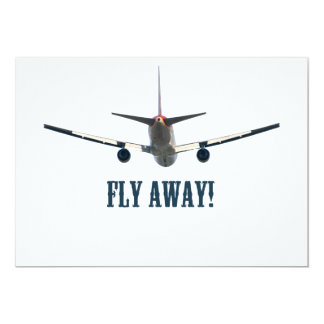 Fly away airplane card