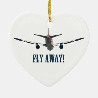 Fly away airplane christmas tree ornament