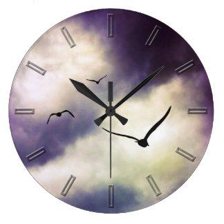 Fly Away bird wall clock