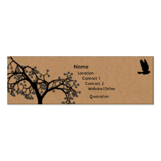Fly Away Double-Sided Mini Business Cards (Pack Of 20)