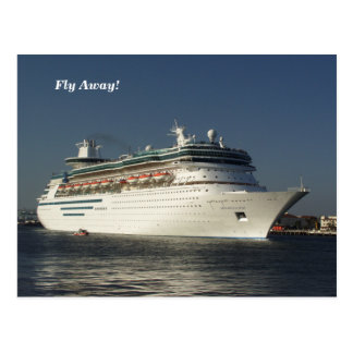 Fly Away! Cruise Ship Post Card