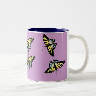 fly away fly away fly away Two-Tone coffee mug