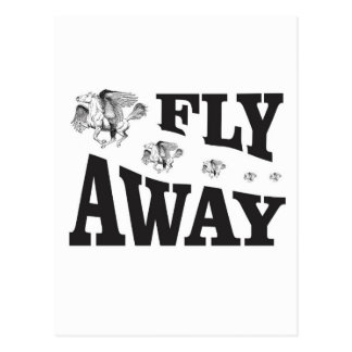 fly away horses postcard