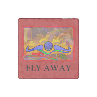 """""""FLY AWAY"""" IM Morn Fly stone magnet"""