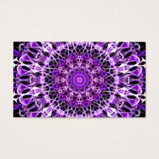 Fly Away Purple Kaleidoscope Business Card