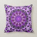 Fly Away Purple kaleidoscope Throw Pillow