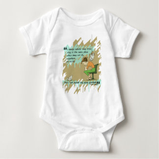 Fly Away Quote Baby Bodysuit