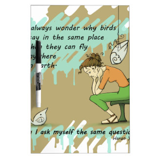 Fly Away Quote Dry-Erase Board