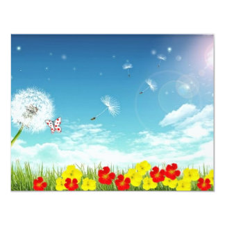 fly away spring card