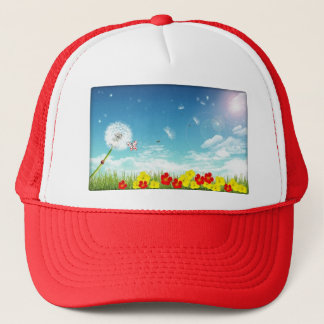fly away spring trucker hat