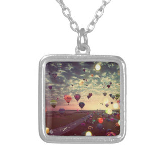 Fly Away Square Pendant Necklace