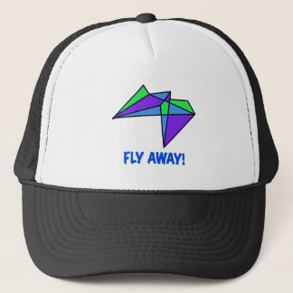 FLY AWAY, stained glass, abstract, gifts Trucker Hat