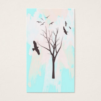 Fly Away - Tree and Birds Profile Business Card