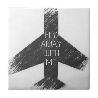 Fly away with me ceramic tile