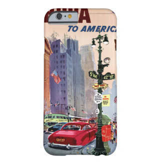 Fly BCPA to America Vintage Poster Restored Barely There iPhone 6 Case