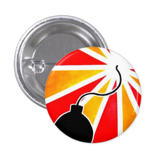 fly bomb pinback button