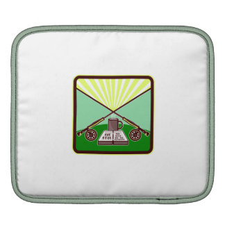 Fly Box Crossed Rod Mug Square Retro Sleeve For iPads