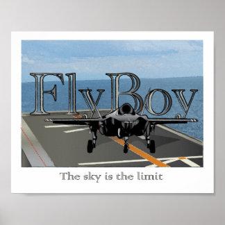 Fly Boy - Boys Room Wall Art Print