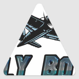 Fly Boy Triangle Sticker