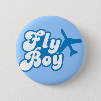 FLY BOY with aeroplane jet Button