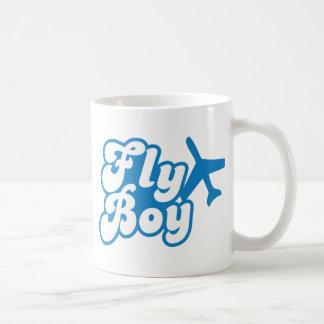 FLY BOY with aeroplane jet Classic White Coffee Mug