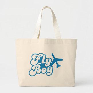 FLY BOY with aeroplane jet Jumbo Tote Bag
