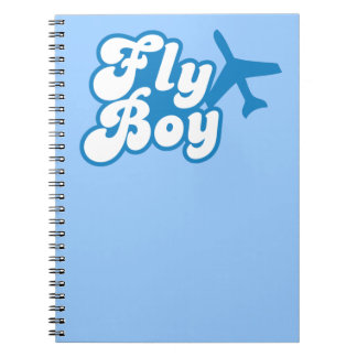 FLY BOY with aeroplane jet Notebook