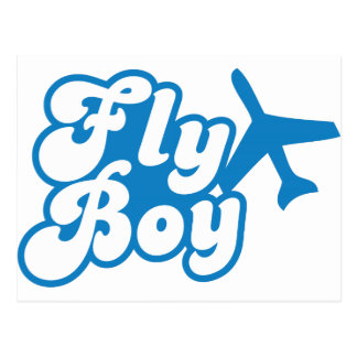 FLY BOY with aeroplane jet Postcard