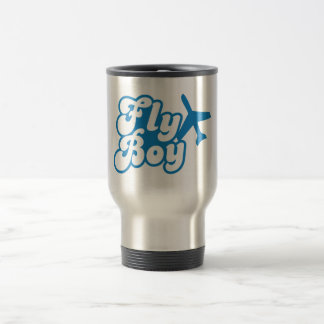 FLY BOY with aeroplane jet Travel Mug