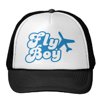 FLY BOY with aeroplane jet Trucker Hat