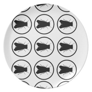Fly Bulls-eye Pattern Plate