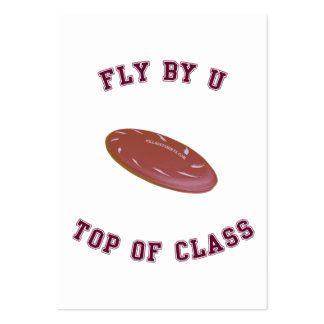 Fly By U Frisbee Business Card Template