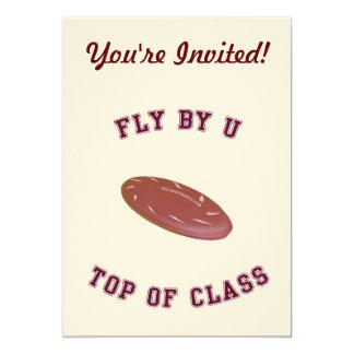 Fly By U Frisbee Custom Invitations